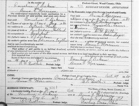 Wood County Ohio Divorce Records So Many Ancestors 52 Ancestors Week 23 Quot Wedding Quot Elizabeth Gatlin And All