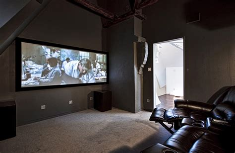 Modern And Futuristic Apartments With Home Theater In Sweden