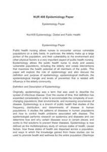 Epidemiology Essay by Epidemiology Essay Sle