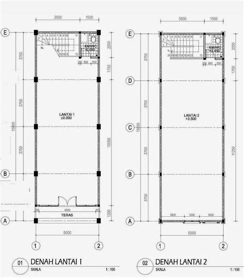 gambar denah  tampak rumah minimalis  lantai gambar denah  rumah  lantai minimalis