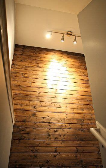 planked wall option   basement landing