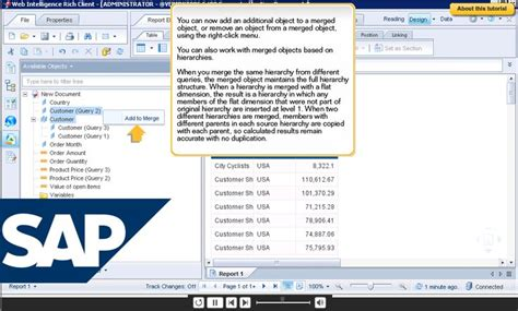 sap tutorial web intelligence 189 best images about e learning exles on pinterest