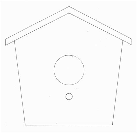 card stock house templates best photos of cardstock birdhouse template printables