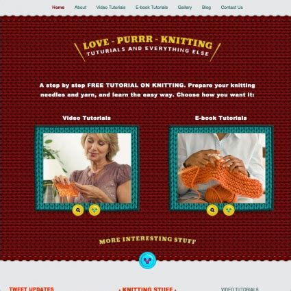 love purr knitting template free website templates in css