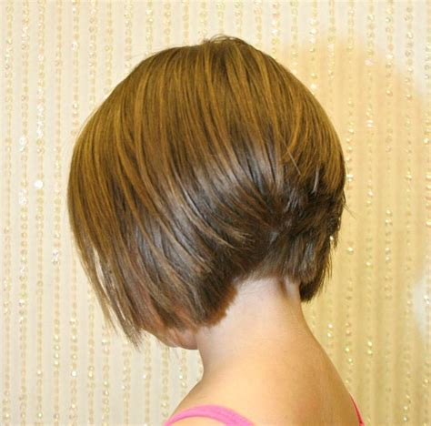 bob with stacked in back and short in front back view of stacked bob hairstyle layered bob inverted