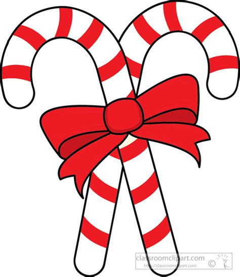 christmas clipart clipart two candy canes red ribbon