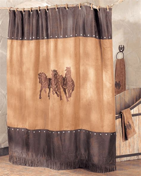 horse shower curtains sale running horse shower curtain