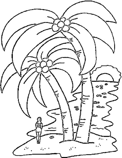 printable coloring pages palm tree palm tree coloring pages for kids coloring home