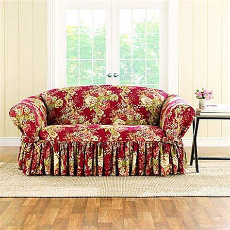 waverly slipcovers sale sure fit 174 ballad bouquet by waverly loveseat slipcover
