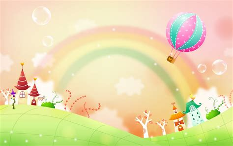 wallpaper rainbow cartoon clear cartoon rainbow pictures hd wallpapers widescreen