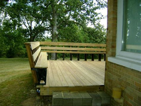how to build a deck bench seat deck railing seating combo slight slant is nice outside