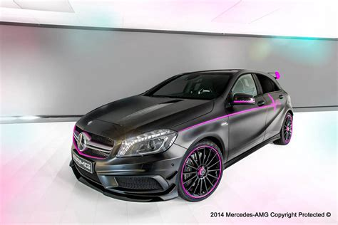 pink mercedes amg mercedes benz a 45 amg erika by amg performance studio