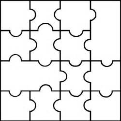 puzzle cut out template blank puzzle template 14 pieces easy to cut learning