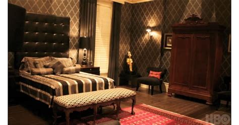 bills bedroom features high tufted headboard egyptian bill comptons house true blood popsugar home photo