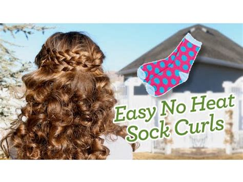 traditional no heat scittish hair styles sock curls easy no heat curls cute girls hairstyles