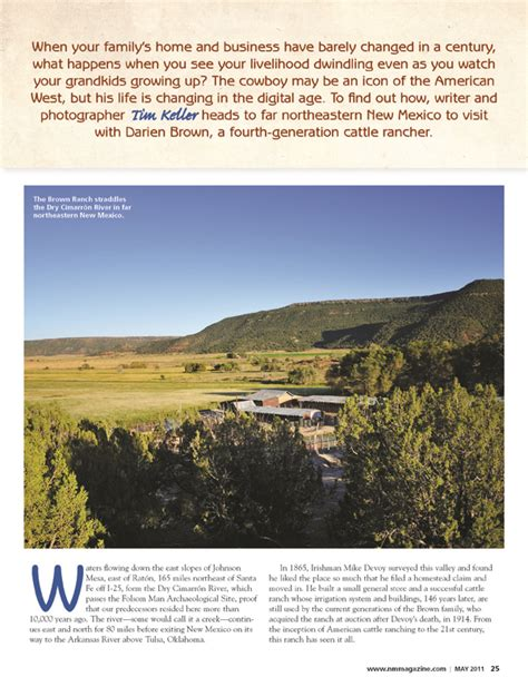 the brown ranch home on the range new mexico magazine
