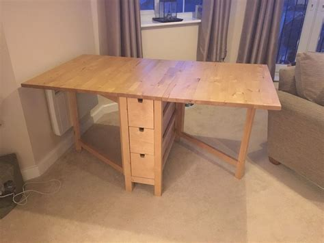 ikea drop leaf table ikea norden table drop leaf extendable solid wood with
