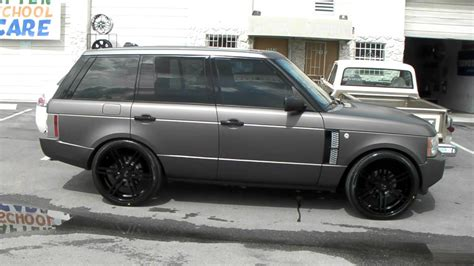land rover 2007 black 24 quot inch gianelle bologna rims 2007 range rover luxury