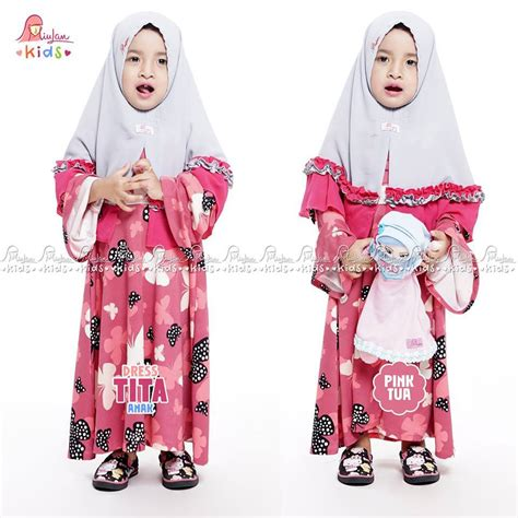 Miulan Dress Kaefy Anak tita pink tua miulan boutique