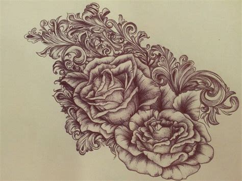 victorian style tattoos baroque design options