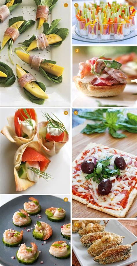healthy mini appetizers christmas party foods