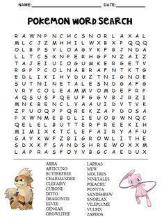 printable road trip word search pokemon word search printable road trip tips pinterest