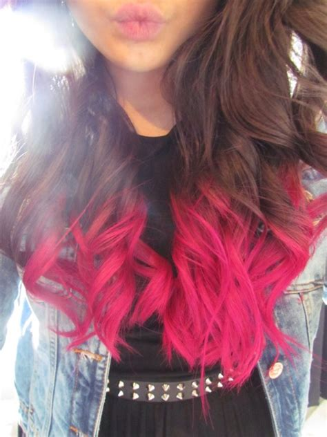 dip dyed hairstyles tumblr dip dye hair on tumblr