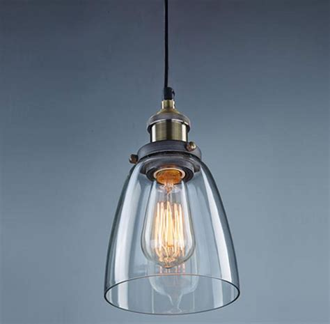 clear glass pendant lights for kitchen contemporary vintage industrial bell clear glass bedroom