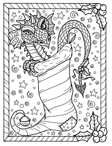 japanese christmas coloring page dragon christmas coloring page digital jpg file adult color