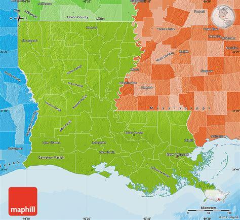 united states map louisiana physical map of louisiana political shades outside