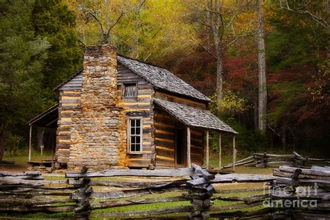 Johns Cabin oliver cabin cades cove photograph by lena auxier