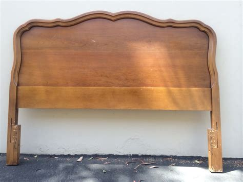 Vintage French Provincial Headboard And Matching Nightstand By