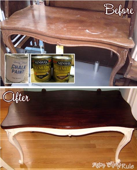 chalk paint espresso easy way to update wood stained furniture artsy