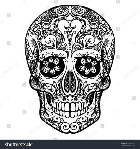 candele chion catalogo vector black white skull illustration stock vector