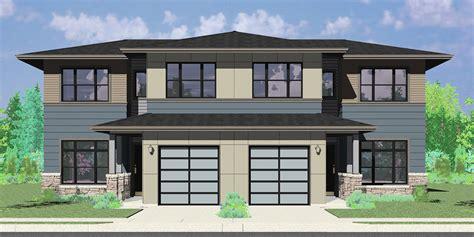 Modern Duplex Plans by House Plans Duplex Triplex Custom Building Design Firm