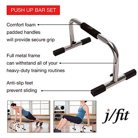 Push Up Stand Alat Fitness j fit 9 pro push up bar stand durable metal