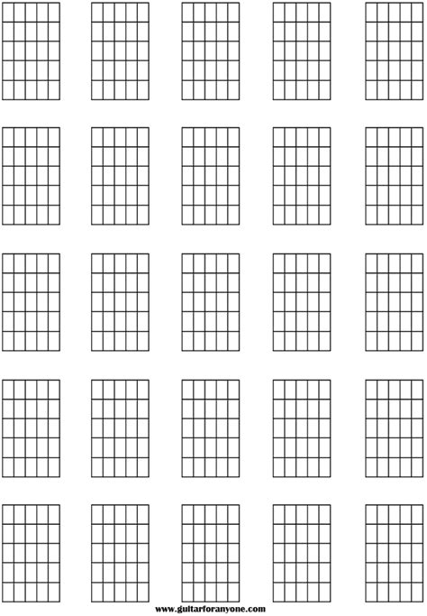 printable blank ukulele chord chart blank chord sheet music board pinterest guitar