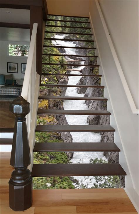 Wall Mural Decals Cheap stairway art decorates your staircases with beautiful