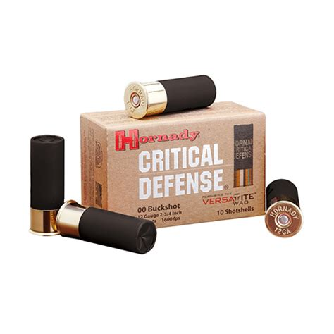 10 buck box hornady 12 buckshot by hornady critical defense 00