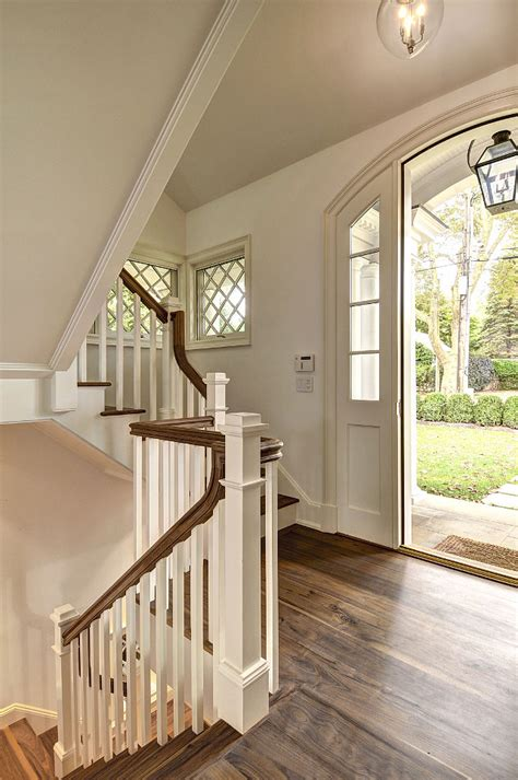 entryway stairs east hton shingle cottage with coastal interiors home bunch interior design ideas