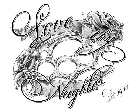 brass knuckles tattoo design thy fin by whoiscid on deviantart