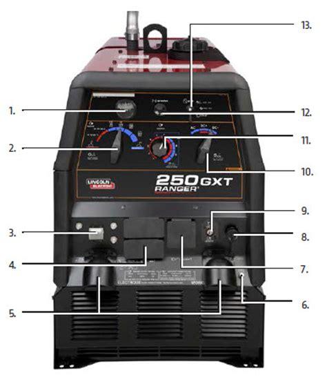 ranger 174 250 gxt engine driven welder kohler 174 w electric