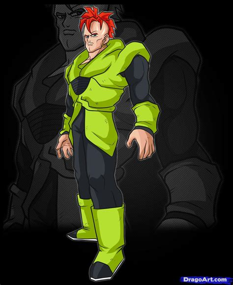 z android 16 how to draw android 16 step by step z characters anime draw japanese anime draw