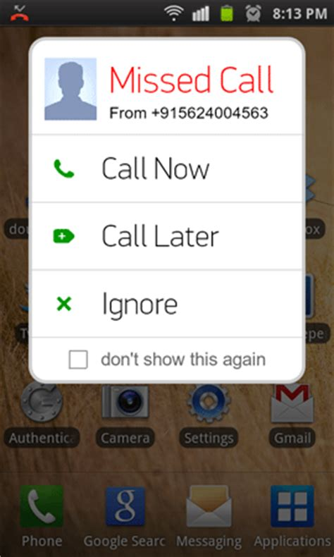 save missed phone calls to tasks android
