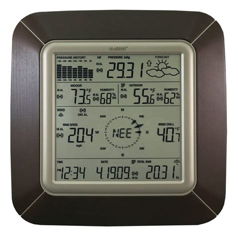 la crosse technology 174 ws2811brnit professional weather station with wind weather and pc