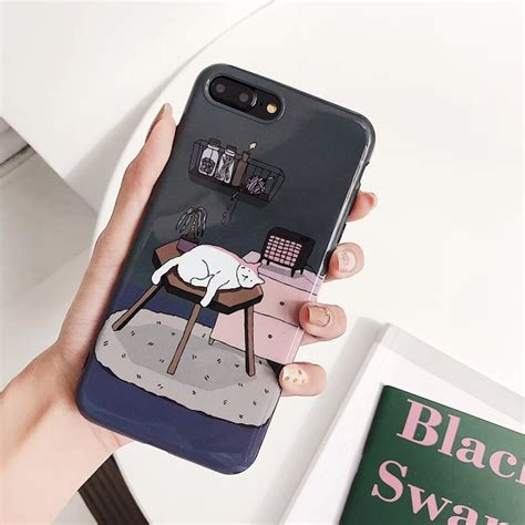 japan illustration cat phone cases for iphone x xs max xr for iphone 6 6s 7 8 plus