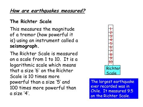 earthquake richter scale earthquakes and richter scale