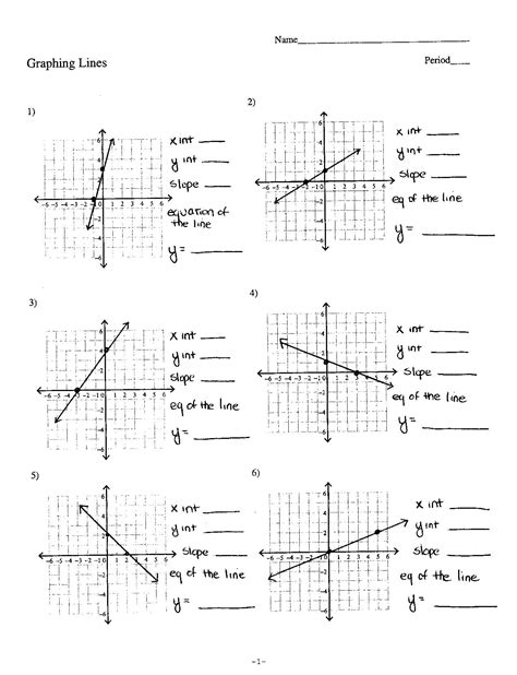 Graphing Linear Equations Worksheet Pdf by Graphing Linear Functions In Slope Intercept Form
