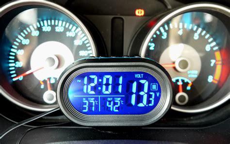 Jual Jam Thermometer jual digital indicator suhu voltase jam tanggal vst