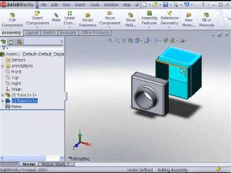 solidworks tutorial lesson 2 assemblies lesson2 videolike
